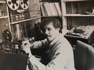 howard berkes in studio 1980s-90s