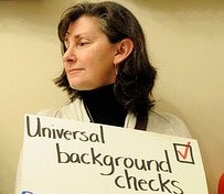 Universal background checks sign