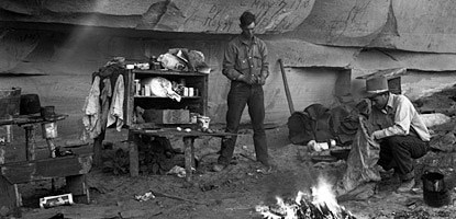 A cowboy camp circa 1938. (Photo source: National Park Service)