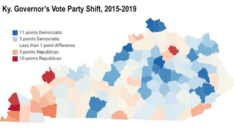 kentucky governor party shift 2015 to 2019 FINAL