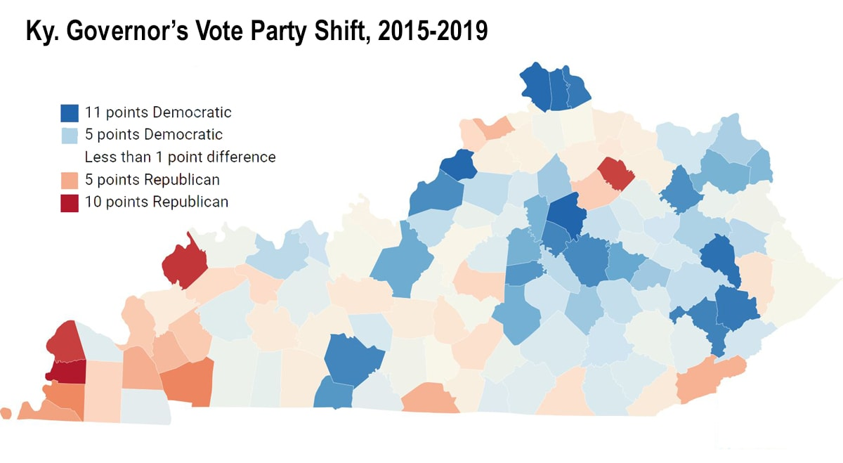 Where the Vote Shifted in Kentucky from 2015 to 2019 - Daily ...