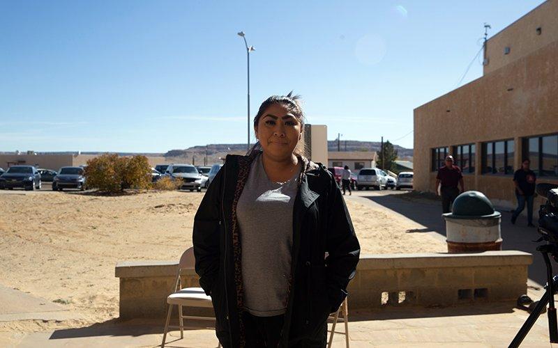 Vanissa Barnes-Saucedo, Native American veteran
