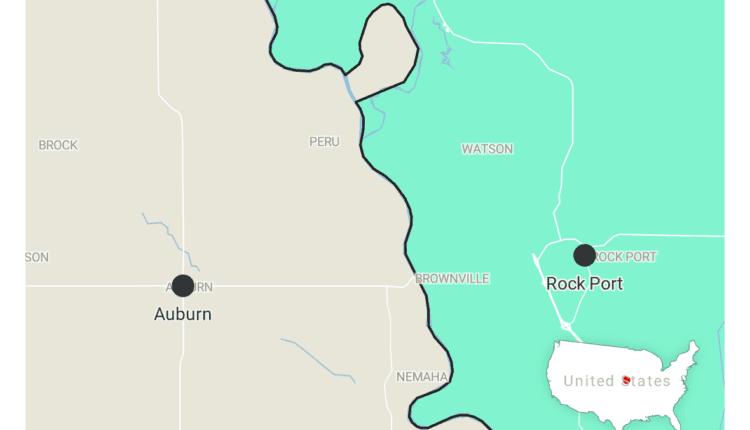 auburn nebraska and rock port missouri